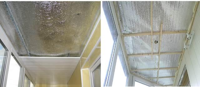 Теплоизоляция пенофолом на потолке балкона
