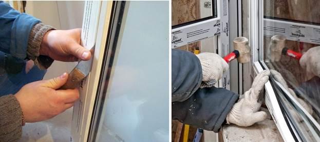 Установка стеклопакета балконной двери