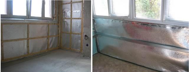 Варианты использования Пенофола для утепления стен балкона
