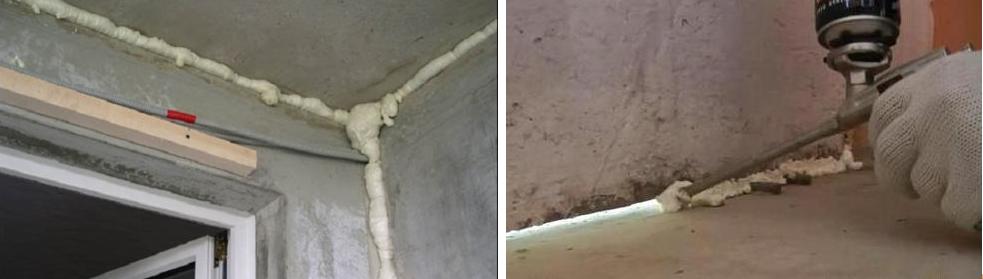 Замазка швов между плитами лоджии и балкона пеной