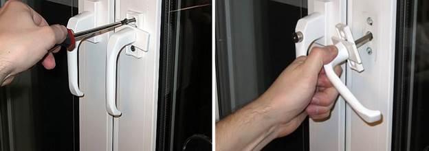 Замена ручки на балконной двери