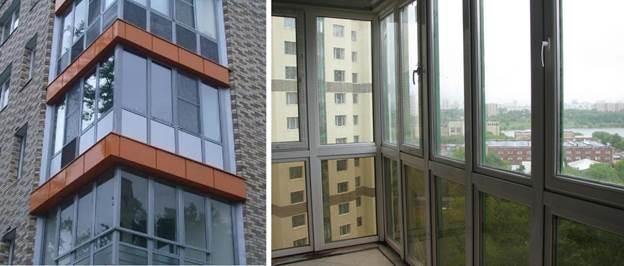 Застекление балкона окнами с установкой в холодный профиль