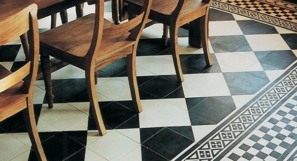 укладка плитки в шахматном порядке